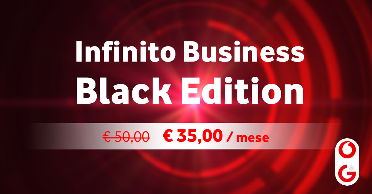 Infinito Business Black Edition a 35€ al mese